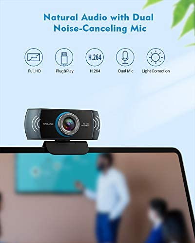 Full HD Webcam 1080P,Streaming Camera,Webcam with Microphone,Wide Angle USB Computer Camera with Facial-Enhancement Technology,Web Cam for Desktop Laptop PC Mac,Video Conferencing Skype YouTube 13