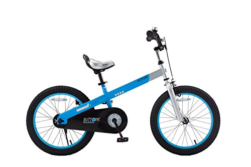 RoyalBaby CubeTube Matte Buttons 18' Bicycle for Kids, Blue