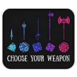 Choose Your Weapon Dungeon RPG Dice Low Profile Thin Mouse Pad Mousepad