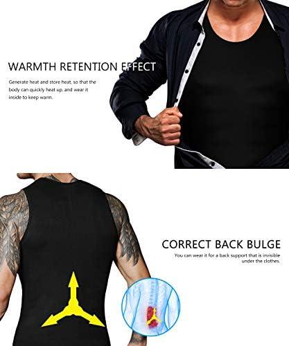 Men Neoprene Waist Trainer Sauna Sweat Suit Workout Vest Tank Top Tummy Control Shapewear Slimming Body Shaper 3