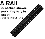 10U aluminum server rack rail with 10-32 tapped holes, 2U-48U, (A10U) esacrs