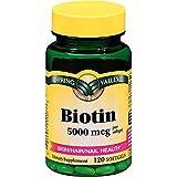 Spring Valley Biotin Softgels, 5000 Mcg, 120 Count