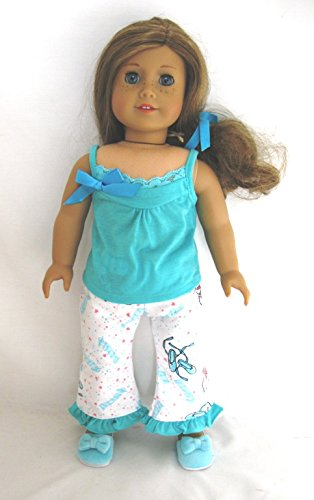Unique Doll Clothing - Grace's Pajamas for 18 Inch Dolls including the American Girl