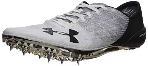 Under Armour unisex-adult Speedform Sprint 2 Running Shoe, White/Steel, 11.5 M US