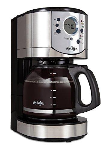Mr. Coffee BVMC-CJX31-AM Cafetera programable con selector de fuerza de infusión, 12 tazas