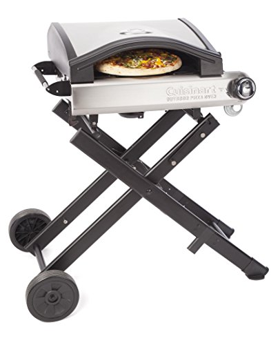 Cuisinart CPO-640 Alfrescamore Portable Outdoor Pizza Oven with Stand, Black