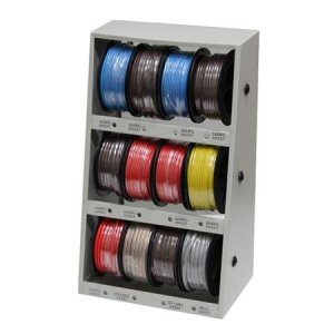 43111 12-Spool Automotive Wire Assortment with Steel Rack (D132)