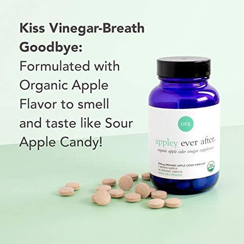 Ora Organic Apple Cider Vinegar Pills - ACV Metabolism Booster, Detox Cleanse, Weight Management - Organic Apple Flavor, 1 Month Supply, 60 Vegan Tablets 2