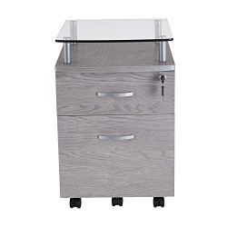 Techni Mobili Rollingg File Cabinet, Regular, gray