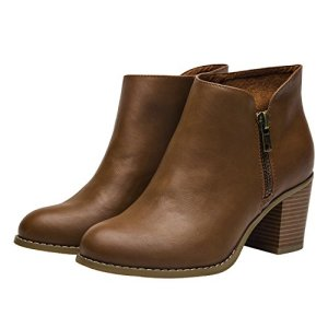 06ce701c116 Luoika Plus Size Wide Width Ankle Boots for Women