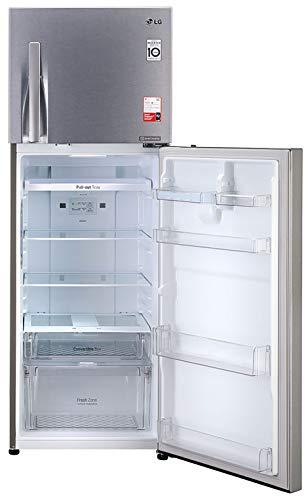 41yy54CdP9L LG 335 L 3 Star Inverter Frost-Free Double Door Refrigerator (GL-T372JDS3, Dazzle Steel, Convertible)