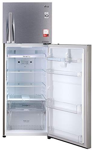 41yy54CdP9L - LG 335 L 3 Star Inverter Frost-Free Double Door Refrigerator (GL-T372JDS3, Dazzle Steel, Convertible)