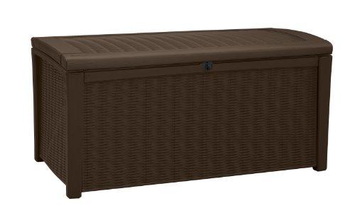 Keter 211359 Borneo 110 Gal. Plastic Outdoor Patio Storage Container Deck Box & Gar