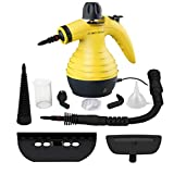 Comforday Surface & Much Multi-Purpose Handheld Pressurized Steam Cleaner with 9 Piece Accessories for Stain Removal, Carpets, Curtains, Car Seats, Kitchen Surface and Much More (Yellow)