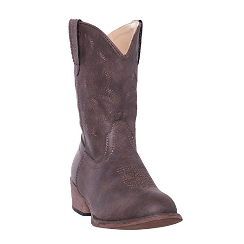 Silver Canyon Children Monterey Kids Western Brown Cowboy Boot for Boys and Girls, 3M,Distressed Brown
