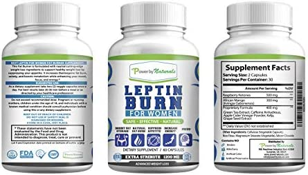 Leptin Detox + Leptin Burn Combo - Vegan - Leptin Supplements for Weight Loss for Women - Leptin Resistance Supplements - All Natural Safe and Effective - Non-GMO - 1 Month 9