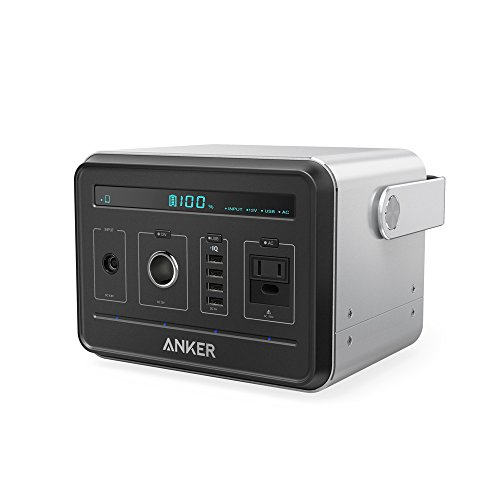 Anker Powerhouse, Compact 400Wh / 120000mAh Portable Outlet, Generator Alternative Rechargeable Power Source with Silent DC/AC Inverter, 12V Car/AC/USB Outputs for Camping, CPAP or Emergency Backup