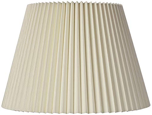 Ivory Linen Knife Pleat Lamp Shade 9x14.5x10 (Spider) - Brentwood