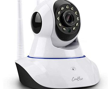 Conbre MultipleXR2 Pro {Upgraded} HD Smart WiFi Wireless IP CCTV Security Camera | Night Vision | 2-Way Audio | Support 64 GB Micro SD Card Slot