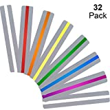 32 Pieces Guided Reading Strips Highlight Strips Colored Overlays Colorful Bookmark - Helps with Dyslexia for Children and Teacher Teaching (Small)