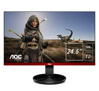 AOC G2590FX 25' Framless Gaming Monitor, FHD 1920x1080, 1ms, 144Hz, G-SYNC Compatible+AdaptiveSync, 96% sRGB, DisplayPort/HDMI/VGA, VESA