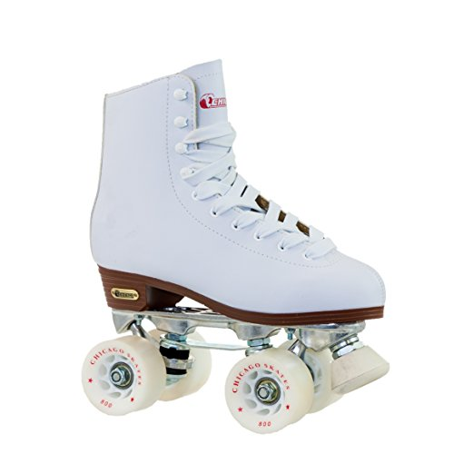 Chicago Women's Leather Lined Rink Roller Skate (Size 8), White