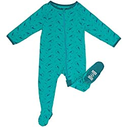 Zip Sleeper Baby Onesie for Boy or Girl, Premium Bamboo No Slip Footie Pajamas