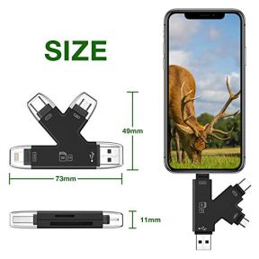 Campark-4-in-1-SD-Card-Reader-Compatible-with-iPhone-iPad-Mac-or-Android-Trail-Game-Camera-Memory-Card-Viewer-to-View-Photos-or-Videos-on-Smartphone-Computer