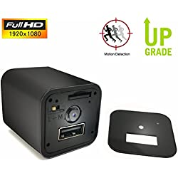 Hidden Cameras Charger Adapter,ESROVER 1080P HD USB Wall AC Plug Charger Wireless Home Security Covert Nanny Spy Camcorder adapter--Update Version--(Not included SD card)