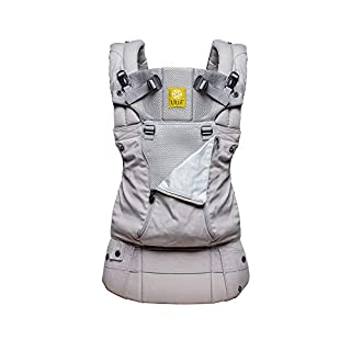 This top-rated baby carrier includes EVERYTHING: six ways to carry your baby, unique lumbar support, headrest, sleeping hood for support & sun protection (UPF 50+), zippered pocket, dual adjustable straps for easier breastfeeding, generous paddin...