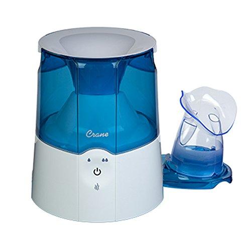 Crane EE-5202 Inhaler & Warm Mist Humidifier, Blue & White