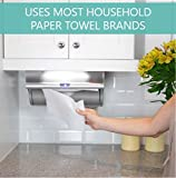 Innovia Automatic Paper Towel Holder & Smart Dispenser, Mounts Under Cabinets, Uses Household Paper Towel Brands, Stainless Steel Finish