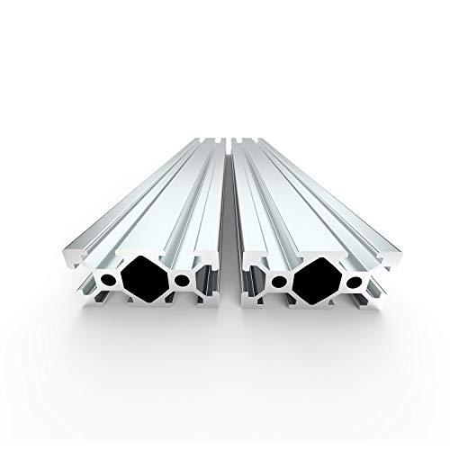 FEYRINX-2PCS-2040-Aluminum-Extrusion-Profile-European-Standard-T-Type-Anodized-Sliver-Linear-Rail-for-3D-Printer-Length-200mm