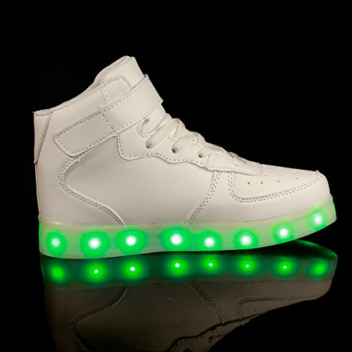 Affinest High Top Usb Charging Led Shoes Flashing Fashion