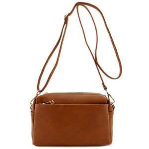 Triple Zip Small Crossbody Bag 17 Fashion Online Shop gifts for her gifts for him womens full figure