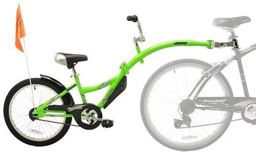 WeeRide Kids Co Pilot Tagalong Trailer Bike - Fluoro Green, 20 Inch by Wee-Ride