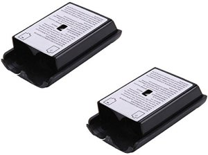 Diageng 2 Pcs Black Battery Pack Cover Shell Case Kit for Xbox 360 Wireless Controller