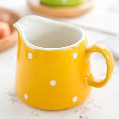 Polka Dot Coffee Creamer Pitcher