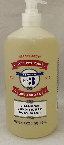 Trader Joe's Formula No.3 'All for One, One for All' Shampoo Conditioner & Body Wash 32 fl oz (1 bottle)