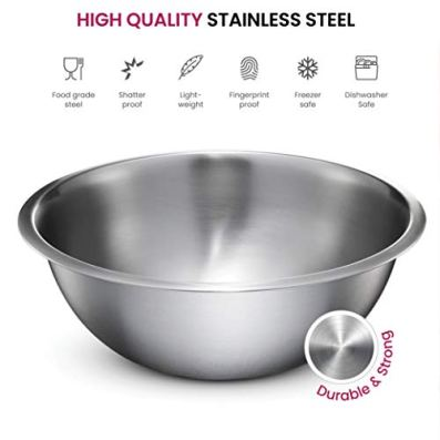 Stainless-Steel-Mixing-Bowls-Set-of-5-Brushed-Stainless-Steel-Mixing-Bowl-Set-Easy-To-Clean-Nesting-Bowls-for-Space-Saving-Storage-Great-for-Cooking-Baking-Prepping