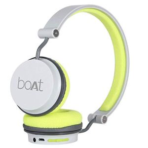 boAt Rockerz 400 Bluetooth Headphone with Super Extra Bass, Up to 8H Playtime, Dual Connectivity Modes, Foldable Earcups and Lightweight Design (Grey/Green)