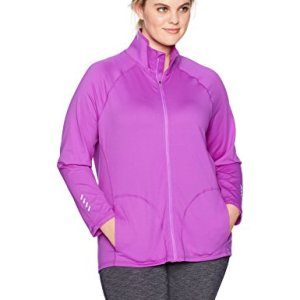 Just My Size Women's Plus Size Active Full-Zip Mock Neck Jacket 21 Fashion Online Shop gifts for her gifts for him womens full figure