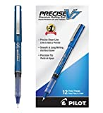 Pilot Pen Blue -Precise V7 Pen Ballpoint Pen (35349) Fine Point Needle Tip, Patented Precision Point Technology, Smooth Skip-Free Writing, Visible Ink Supply