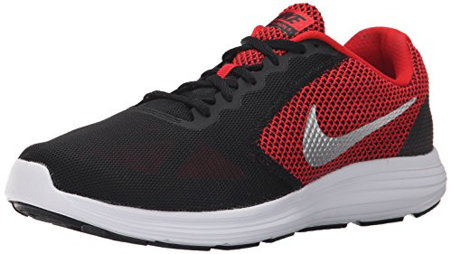 NIKE Men's Revolution 3 Running Shoe, University Red/Metallic Silver/Black/White, 11 4E US