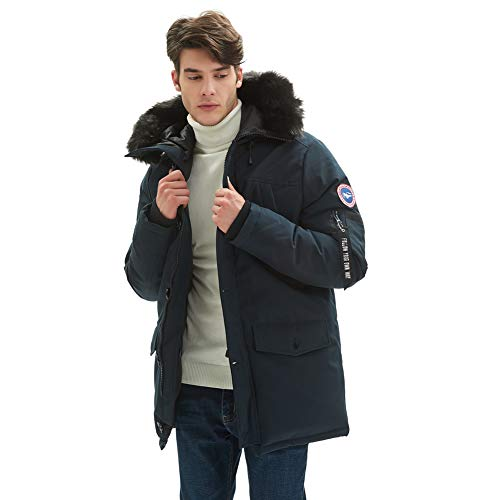 940f2afdcb PUREMSX Down Alternative Jacket, Men's Insulated Expedition Mountain  Thicken Lined Fur Hooded Long Anorak Parka Padded Coat > Adventure Travel  Coach