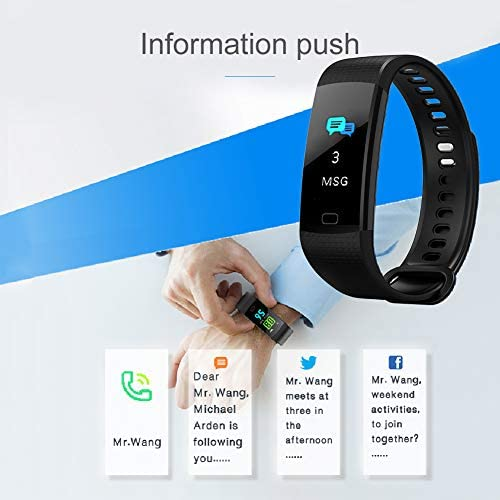 41zo51f25pL. AC  - Awopee Smartwatch Pulsera Inteligente,Pulsera Inteligente Smartband Bluetooth,con Podómetro, Contador de Calorías y Kilómetros, Notificaciones de Mensajería y Llamadas, Monitor de Ritmo Cardiaco, A Prueba de Agua y Polvo, Compatible con Android y iOS #Amazon