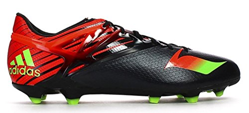 adidas Messi 15.1 FG/AG Soccer Cleats (Black, Solar Red)