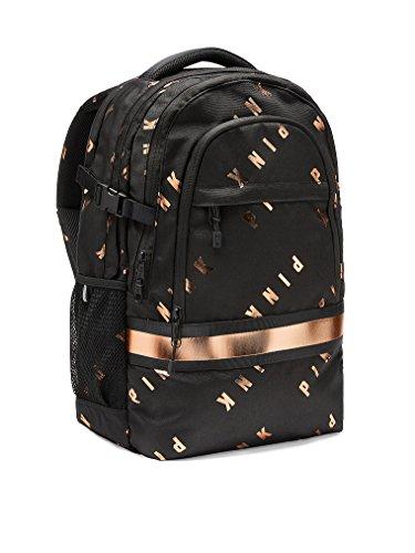 Bling Collegiate Backpack School Bag Black Copper Foil