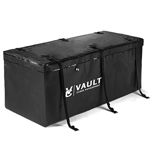 "Hitch Cargo Carrier Bag from Vault Cargo – 15 Cubic Feet - Heavy Duty Waterproof Cargo Hitch Carrier Bag Perfect for Camping, Luggage, and Outdoor Gear. Cargo Hitch Bag (59"" x 24"" x 24"")"