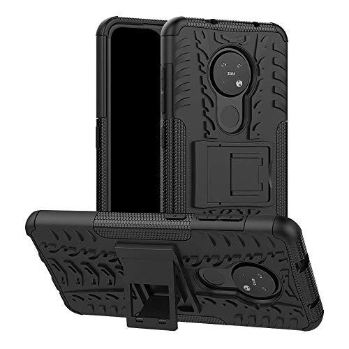 Soezit Back Cover Kickstand View Armor Case for Nokia 7.2 (Black) 1